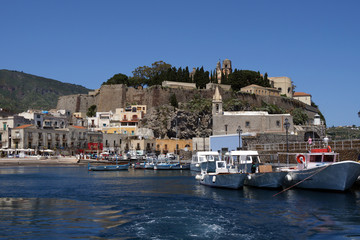 Fortification of Lipari in the Aeolian islands