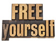 free yourself in wood type