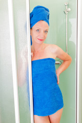 beauty woman in a shower