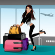 Happy Travelling Girl