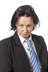 unhappy female professional