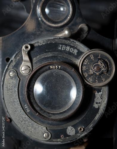 Detail on a vintage camera