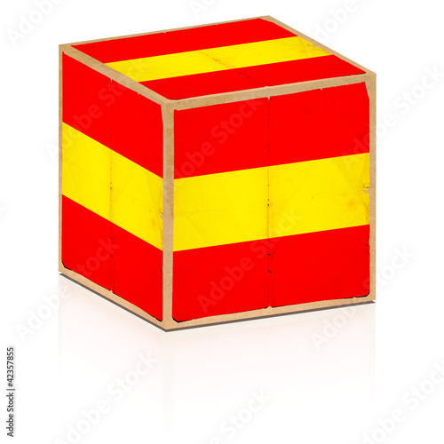 old box spain flag on it