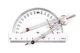 compass on protractor