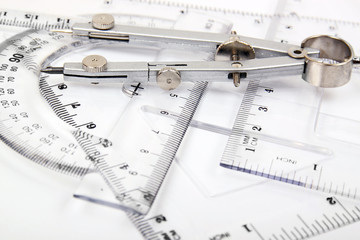 compass and set of rulers