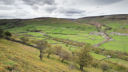 Looking across Gunnerside in the Yorkshire Dales