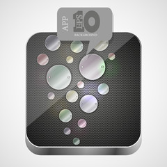 Vector metal app icon with gray bubble speech. Eps10