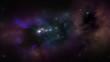 A virtual flight through stars and nebulas