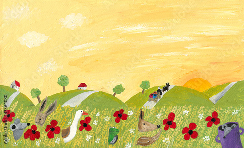 Countryside landscape in the summer