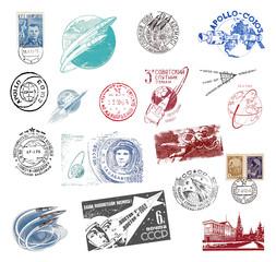 Briefmarken und Poststempel aus der ehemaligen Sowjetunion