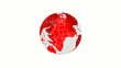 World globe red