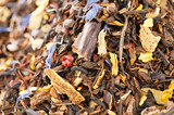 caffeine mix of mate, black tea, and red rooibos with cocoa, cho poster