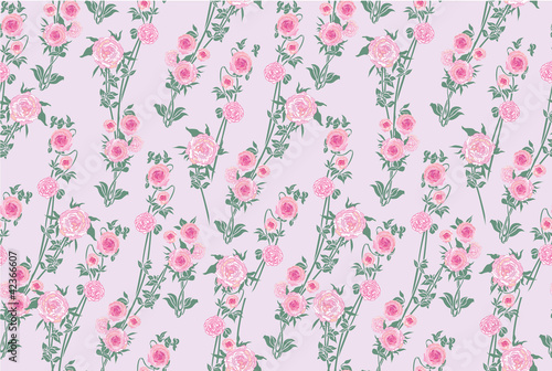 seamless pattern with pink rose, background