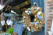 Selling holiday ornaments in the flower shop in Gorinchem. Nethe