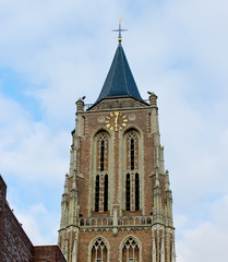 The old church tower in Gorinchem. Netherlands