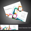 abstract colorful business card set vector