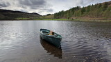 A small boat on Watendlath Tarn in the Lake District