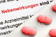 Blister auf Patienteninformation