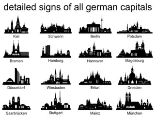 Skyline Set german capital with signs