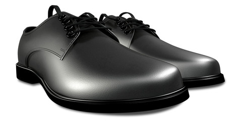 Formal Black Leather Shoes Perspective