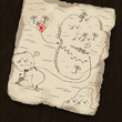 Treasure map on wooden background. Map under mask, you can chang