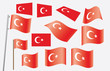 set of flags of Turkey vector illustration
