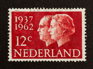 HOLLAND - CIRCA 1960: Stamp printed in the Netherlands