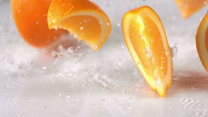 Sliced orange, Slow Motion