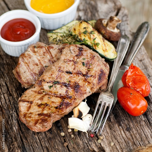 Gegrilltes Rumpsteak