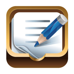 app iocn - paper and pencil for notes