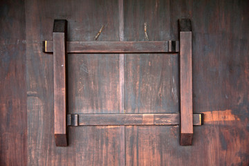 The latch of the ancient Chinese door