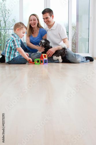 Familie daheim