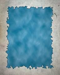 Vintage frame isolated on Blue background