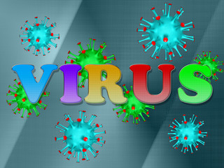 label the virus against virus