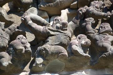 Fighting Monkey Sculpture, Cambodia