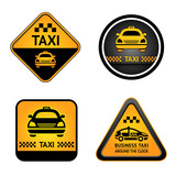 Fototapety Taxi cab set stickers