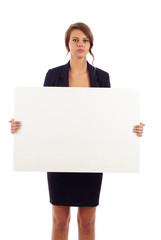 Business woman with Billboard