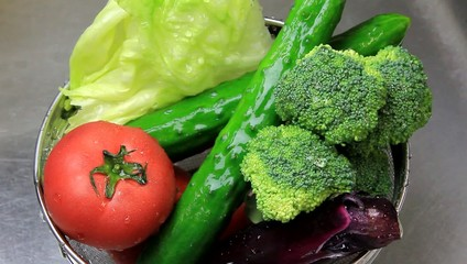 I wash vegetables