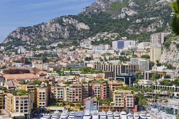 Fontvieille - new district of Monaco
