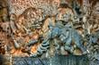 Wandrelief, Hoysaleshwara-Temple, Halebid, Indien