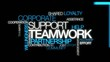 Teamwork corporate word tag cloud animation video