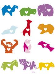 Tiere mit Herz