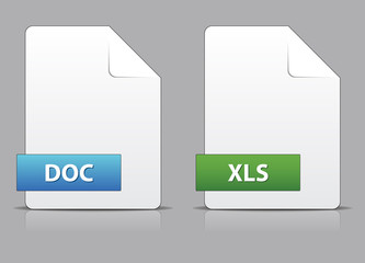 Office file icons set