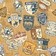 Classic sports seamless pattern