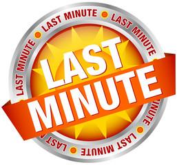 """Button Banner """"Last Minute"""" Sun Yellow/Orange/Silver"""