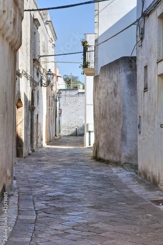 Alleyway. Corigliano d'Otranto. Puglia. Italy.