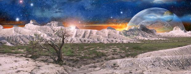 fantastic space scenery