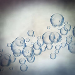 rising floating bubbles