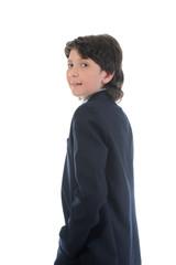 portrait of a boy businessman in a business suit