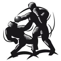 Boxkampf, Schlägerei